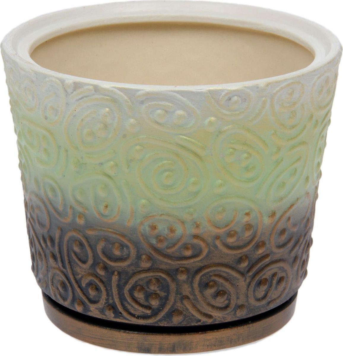 Кашпо Керамика ручной работы Серпантин, цвет: зеленый, 3,5 л1475901Комнатные растения — всеобщие любимцы. Они радуют глаз, насыщают помещение кислородом и украшают пространство. Каждому из них необходим свой удобный и красивый дом. Кашпо из керамики прекрасно подходят для высадки растений: за счёт пластичности глины и разных способов обработки существует великое множество форм и дизайновпористый материал позволяет испаряться лишней влагевоздух, необходимый для дыхания корней, проникает сквозь керамические стенки! #name# позаботится о зелёном питомце, освежит интерьер и подчеркнёт его стиль.