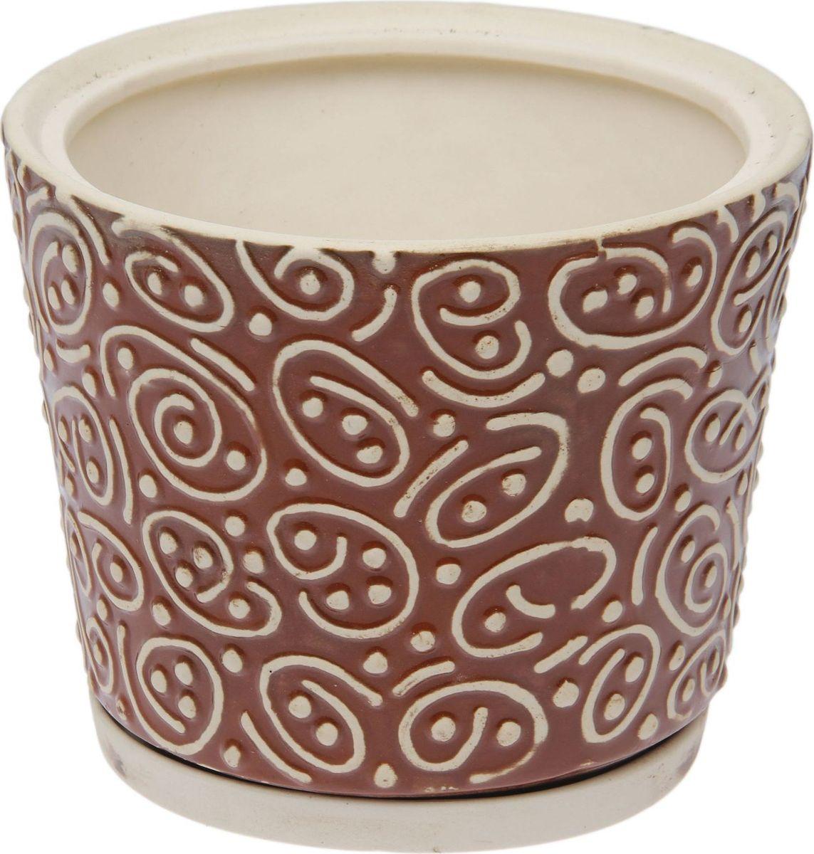 Кашпо Керамика ручной работы Серпантин, 3,5 л1475902Комнатные растения — всеобщие любимцы. Они радуют глаз, насыщают помещение кислородом и украшают пространство. Каждому из них необходим свой удобный и красивый дом. Кашпо из керамики прекрасно подходят для высадки растений: за счёт пластичности глины и разных способов обработки существует великое множество форм и дизайновпористый материал позволяет испаряться лишней влагевоздух, необходимый для дыхания корней, проникает сквозь керамические стенки! #name# позаботится о зелёном питомце, освежит интерьер и подчеркнёт его стиль.