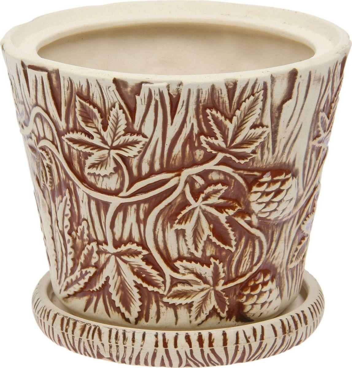 Кашпо Керамика ручной работы Хмель, цвет: , 3 л1475906Комнатные растения — всеобщие любимцы. Они радуют глаз, насыщают помещение кислородом и украшают пространство. Каждому из них необходим свой удобный и красивый дом. Кашпо из керамики прекрасно подходят для высадки растений: за счёт пластичности глины и разных способов обработки существует великое множество форм и дизайновпористый материал позволяет испаряться лишней влагевоздух, необходимый для дыхания корней, проникает сквозь керамические стенки! #name# позаботится о зелёном питомце, освежит интерьер и подчеркнёт его стиль.
