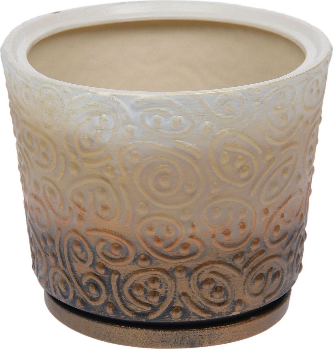 Кашпо Керамика ручной работы Серпантин, цвет: , 3,5 л1477021Комнатные растения — всеобщие любимцы. Они радуют глаз, насыщают помещение кислородом и украшают пространство. Каждому из них необходим свой удобный и красивый дом. Кашпо из керамики прекрасно подходят для высадки растений: за счёт пластичности глины и разных способов обработки существует великое множество форм и дизайновпористый материал позволяет испаряться лишней влагевоздух, необходимый для дыхания корней, проникает сквозь керамические стенки! #name# позаботится о зелёном питомце, освежит интерьер и подчеркнёт его стиль.