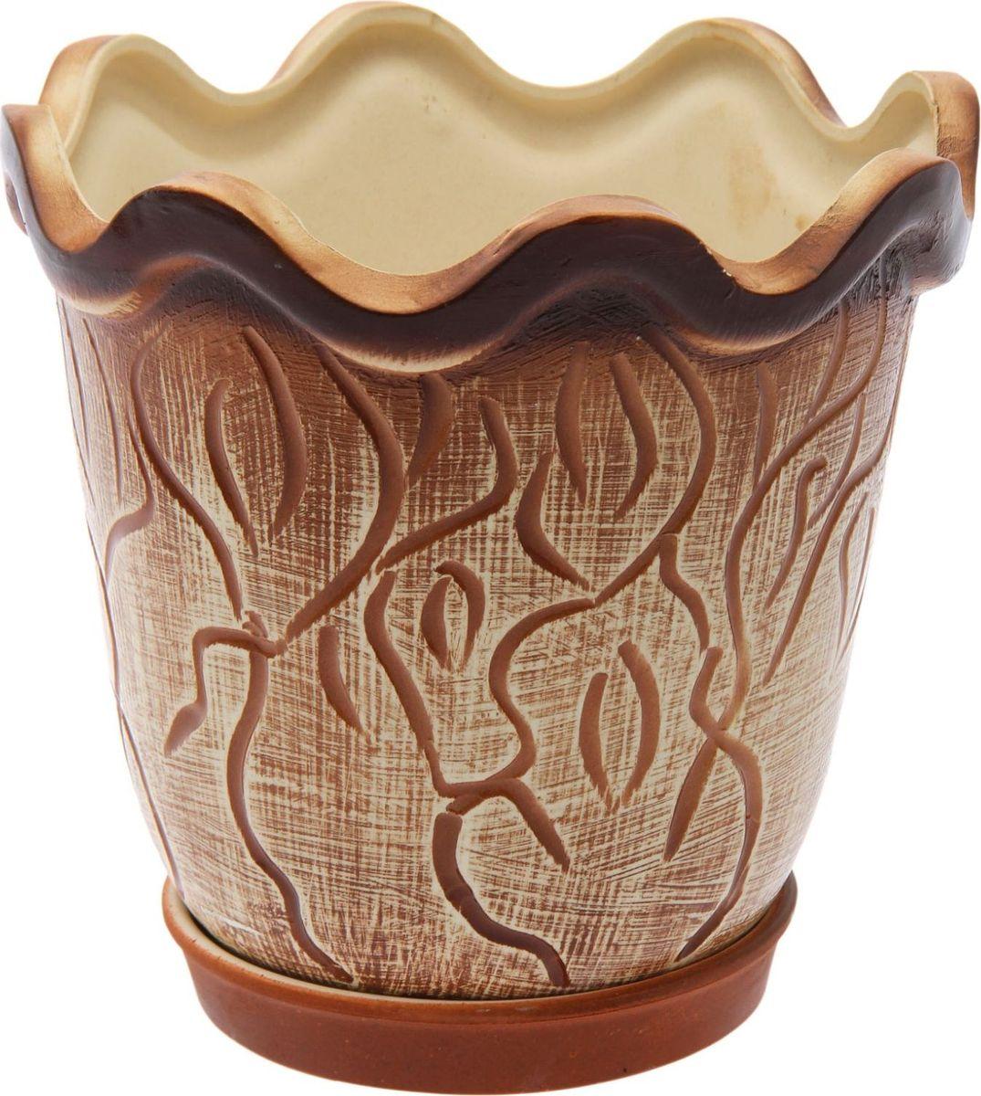 Кашпо Керамика ручной работы Бриз, цвет: , 3 л1482069Комнатные растения — всеобщие любимцы. Они радуют глаз, насыщают помещение кислородом и украшают пространство. Каждому из них необходим свой удобный и красивый дом. Кашпо из керамики прекрасно подходят для высадки растений: за счёт пластичности глины и разных способов обработки существует великое множество форм и дизайновпористый материал позволяет испаряться лишней влагевоздух, необходимый для дыхания корней, проникает сквозь керамические стенки! #name# позаботится о зелёном питомце, освежит интерьер и подчеркнёт его стиль.