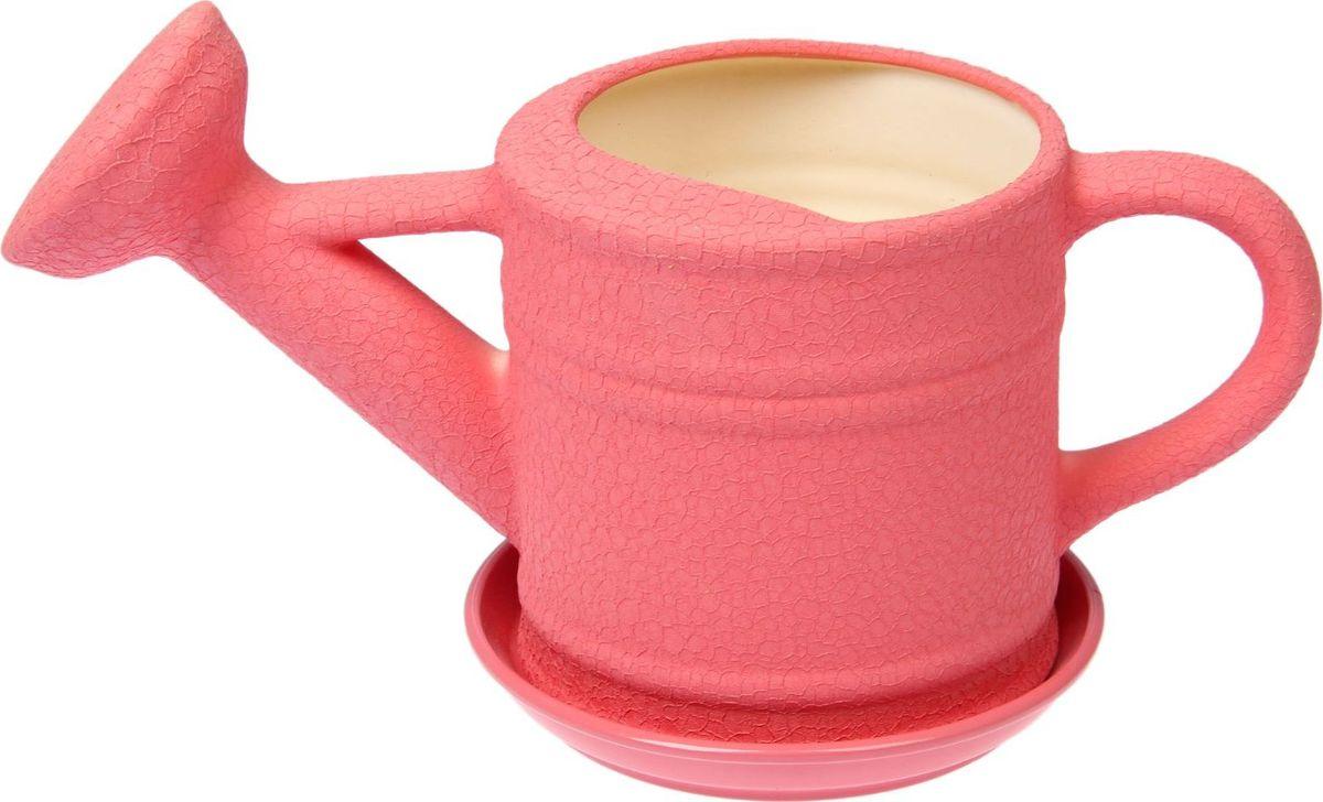 Кашпо Керамика ручной работы Лейка, цвет: розовый, 2,5 л1489641Комнатные растения — всеобщие любимцы. Они радуют глаз, насыщают помещение кислородом и украшают пространство. Каждому из них необходим свой удобный и красивый дом. Кашпо из керамики прекрасно подходят для высадки растений: за счёт пластичности глины и разных способов обработки существует великое множество форм и дизайновпористый материал позволяет испаряться лишней влагевоздух, необходимый для дыхания корней, проникает сквозь керамические стенки! #name# позаботится о зелёном питомце, освежит интерьер и подчеркнёт его стиль.