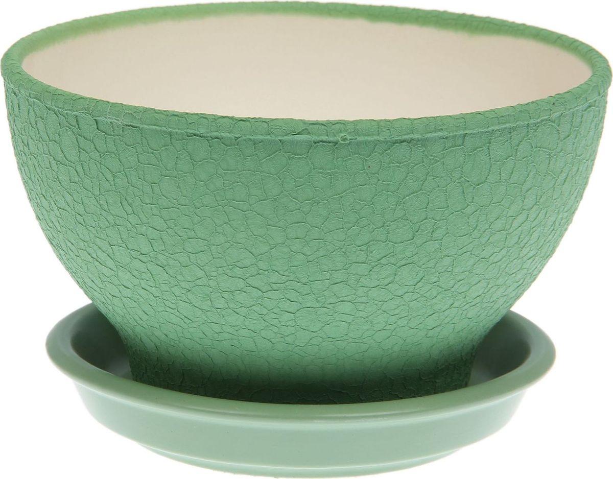Кашпо Керамика ручной работы, для бонсая, цвет: оливковый, 1 л1489654Комнатные растения — всеобщие любимцы. Они радуют глаз, насыщают помещение кислородом и украшают пространство. Каждому из них необходим свой удобный и красивый дом. Кашпо из керамики прекрасно подходят для высадки растений: за счёт пластичности глины и разных способов обработки существует великое множество форм и дизайновпористый материал позволяет испаряться лишней влагевоздух, необходимый для дыхания корней, проникает сквозь керамические стенки! #name# позаботится о зелёном питомце, освежит интерьер и подчеркнёт его стиль.