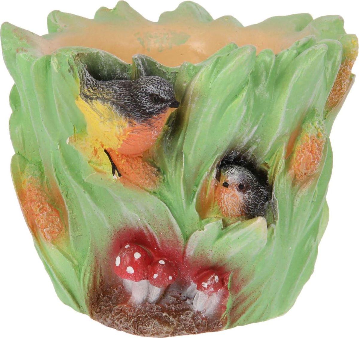 Кашпо Premium Gips Птички, 18 х 16 х 14 см1623299Комнатные растения — всеобщие любимцы. Они радуют глаз, насыщают помещение кислородом и украшают пространство. Каждому из растений необходим свой удобный и красивый дом. Поселите зеленого питомца в яркое и оригинальное фигурное кашпо Premium Gips. Выберите подходящую форму для детской, спальни, гостиной, балкона, офиса или террасы. позаботится о растении, украсит окружающее пространство и подчеркнет его оригинальный стиль.
