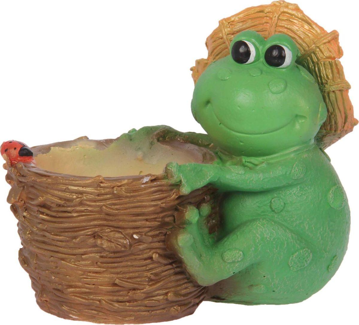 Кашпо Premium Gips Жаба в шляпе, 12 х 19 х 17 см1623311Комнатные растения — всеобщие любимцы. Они радуют глаз, насыщают помещение кислородом и украшают пространство. Каждому из растений необходим свой удобный и красивый дом. Поселите зелёного питомца в яркое и оригинальное фигурное кашпо. Выберите подходящую форму для детской, спальни, гостиной, балкона, офиса или террасы. #name# позаботится о растении, украсит окружающее пространство и подчеркнёт его оригинальный стиль.