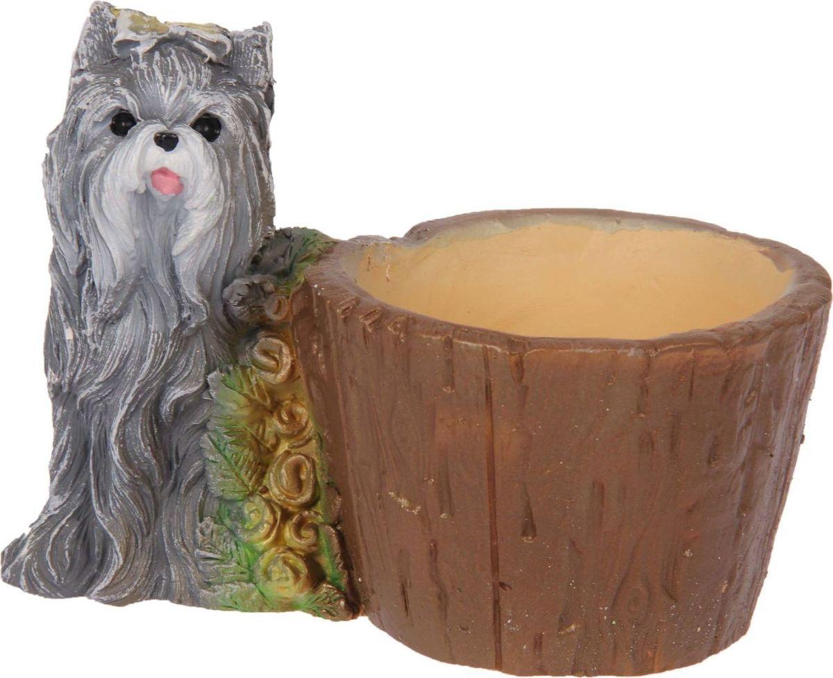Кашпо Premium Gips Собака с розами, 12 х 19 х 15 см1623338Комнатные растения — всеобщие любимцы. Они радуют глаз, насыщают помещение кислородом и украшают пространство. Каждому из растений необходим свой удобный и красивый дом. Поселите зелёного питомца в яркое и оригинальное фигурное кашпо. Выберите подходящую форму для детской, спальни, гостиной, балкона, офиса или террасы. #name# позаботится о растении, украсит окружающее пространство и подчеркнёт его оригинальный стиль.
