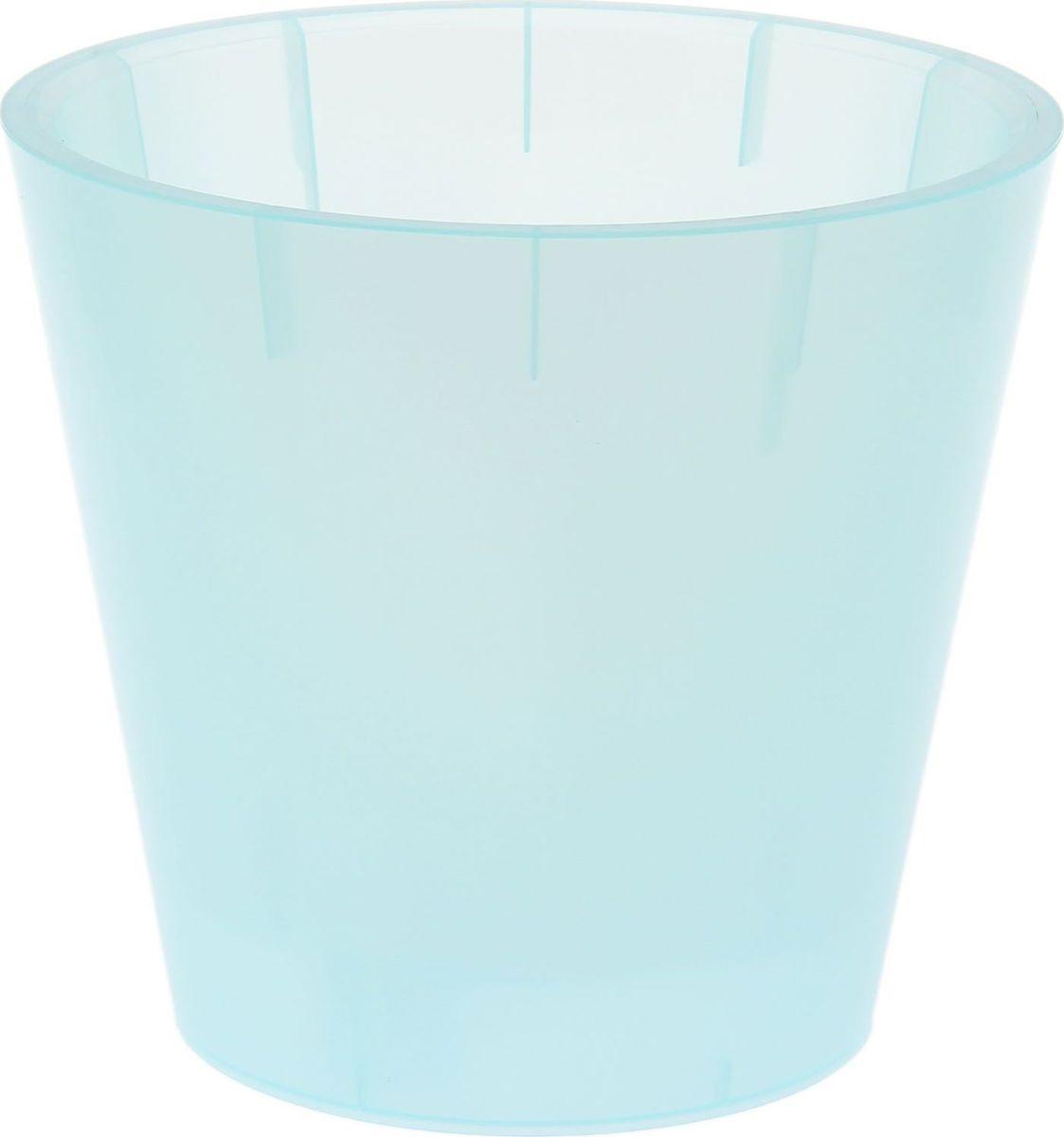 Горшок для цветов InGreen Фиджи. Орхид, цвет: голубой перламутр, 5 л1637051Горшок InGreen, выполненный из высококачественного пластика, предназначен для выращивания комнатных цветов, растений и трав. Такой горшок порадует вас современным дизайном и функциональностью, а также оригинально украсит интерьер любого помещения. Объем: 5 л.