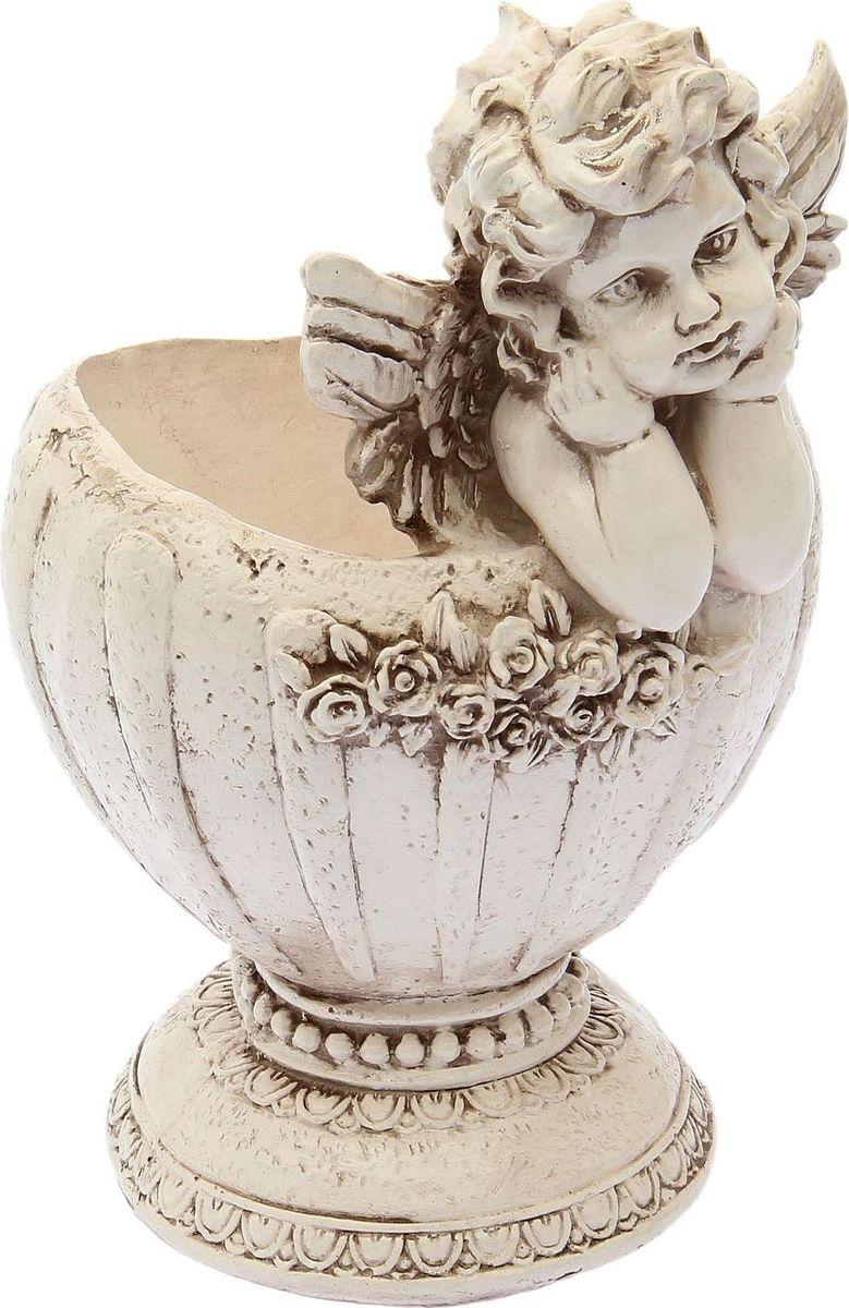 Кашпо Ангел в вазе, состаренное, 20 х 23 х 35 см1659368
