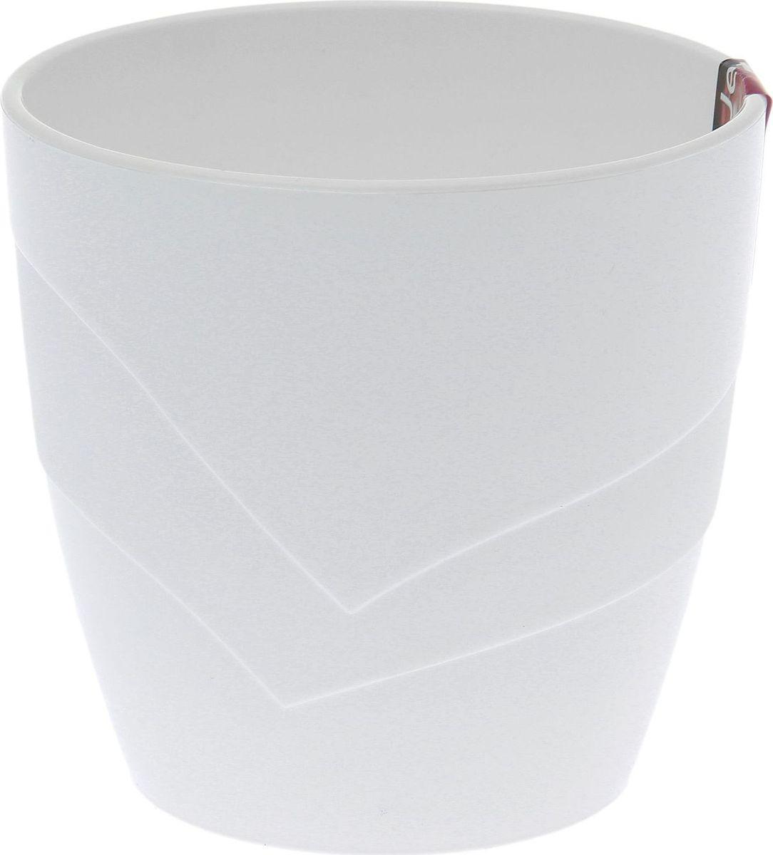 Кашпо JetPlast Грация, цвет: белый, 1,2 л1694303