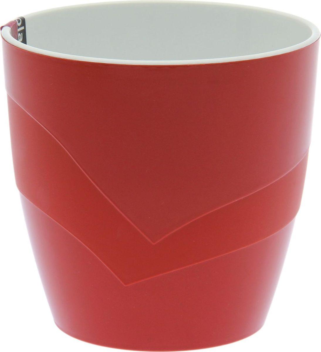 Кашпо JetPlast Грация, цвет: терракотовый, 1,2 л1694306Декоративное кашпо, выполненное из высококачественного пластика, предназначено для посадки декоративных растений и станет прекрасным украшением для дома. Оригинальное кашпо украсит окружающее пространство и подчеркнет его оригинальный стиль.