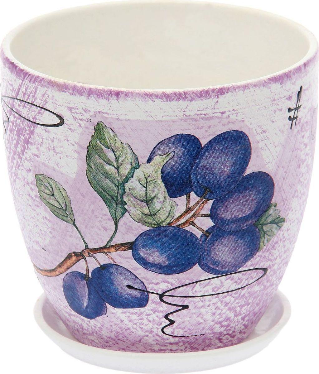 Кашпо Слива, 1,5 л1793189Комнатные растения — всеобщие любимцы. Они радуют глаз, насыщают помещение кислородом и украшают пространство. Каждому из них необходим свой удобный и красивый дом. Кашпо из керамики прекрасно подходят для высадки растений: за счет пластичности глины и разных способов обработки существует великое множество форм и дизайнов пористый материал позволяет испаряться лишней влаге воздух, необходимый для дыхания корней, проникает сквозь керамические стенки! позаботится о зеленом питомце, освежит интерьер и подчеркнет его стиль.