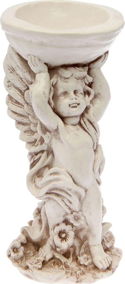 Кашпо Ангел с чашей, состаренное, 22 х 22 х 55 см1805247
