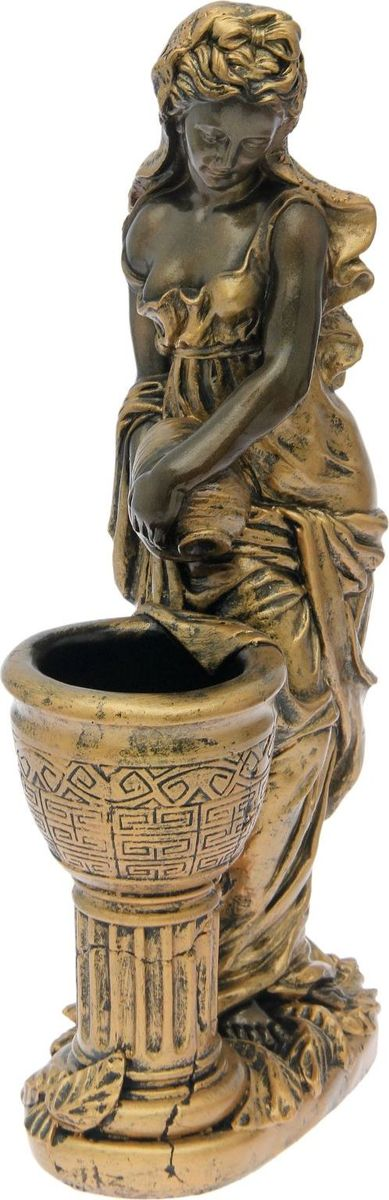 Кашпо  Офелия с кувшином , цвет: черное золото, 45 х 25 х 86 см -  Садовый декор