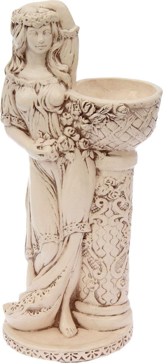 Кашпо Девушка у колонны, состаренное, 25 х 30 х 64 см1858511
