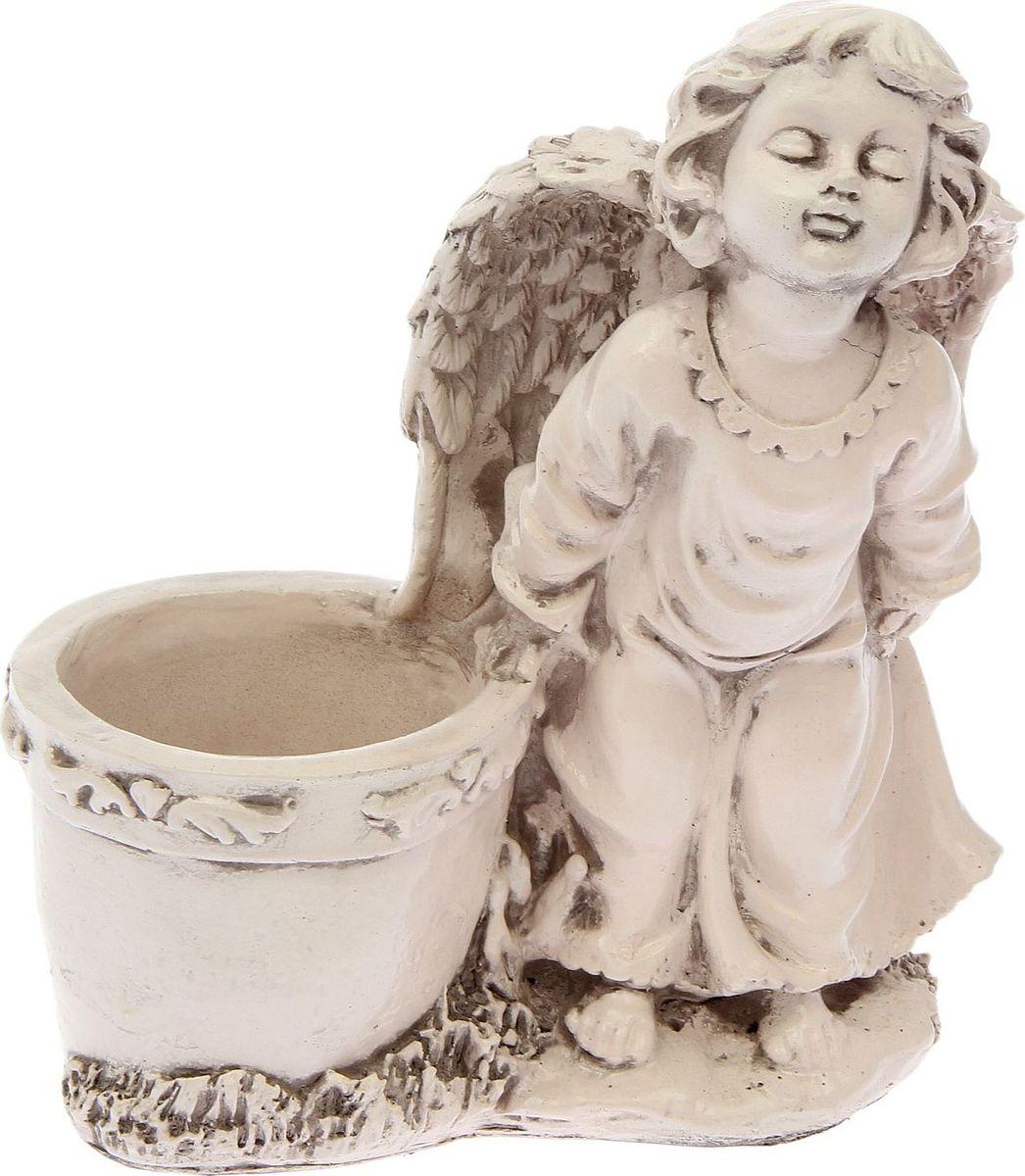 Кашпо Целующий ангел, состаренное, 12 х 22 х 25 см1858520
