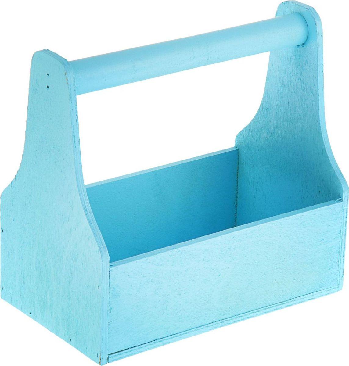 Кашпо ТД ДМ Ящик для инструментов, цвет: голубой, 20 х 20 х 12,5 см1874333#name# — сувенир в полном смысле этого слова. И главная его задача — хранить воспоминание о месте, где вы побывали, или о том человеке, который подарил данный предмет. Преподнесите эту вещь своему другу, и она станет достойным украшением его дома.
