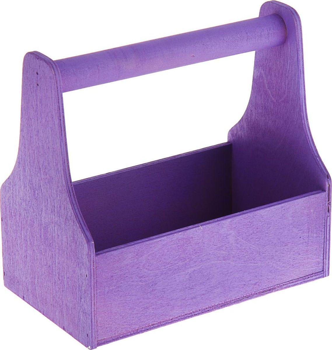 Кашпо ТД ДМ Ящик для инструментов, цвет: фиолетовый, 20 х 20 х 12,5 см1874336Комнатные растения - всеобщие любимцы. Они радуют глаз, насыщают помещение кислородом и украшают пространство. Каждому из растений необходим свой удобный и красивый дом. Милые деревянные изделия наполнят атмосферу уютом и придадут интерьеру стильную ноту. Кашпо Ящик для инструментов особенно выигрышно будет смотреться в экстерьере: на террасах и в беседках. К тому же, цветочкам очень понравится расти в такой подставке из натурального дерева. Добавьте окружающему пространству чуточку прованса!