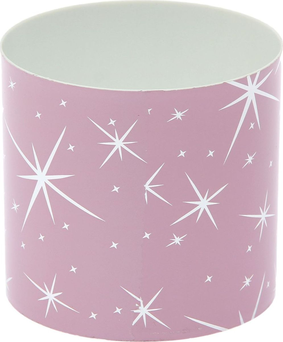 Горшок для цветов Simple Garden Звезды, со скрытым поддоном, цвет: розовый металлик, 1 л1915381Каждому хозяину периодически приходит мысль обновить свою квартиру, сделать ремонт, перестановку или кардинально поменять внешний вид каждой комнаты. Пластиковый горшок со скрытым поддоном Simple Garden Звезды - привлекательная деталь, которая поможет воплотить вашу интерьерную идею, создать неповторимую атмосферу в вашем доме. Окружите себя приятными мелочами, пусть они радуют глаз и дарят гармонию.