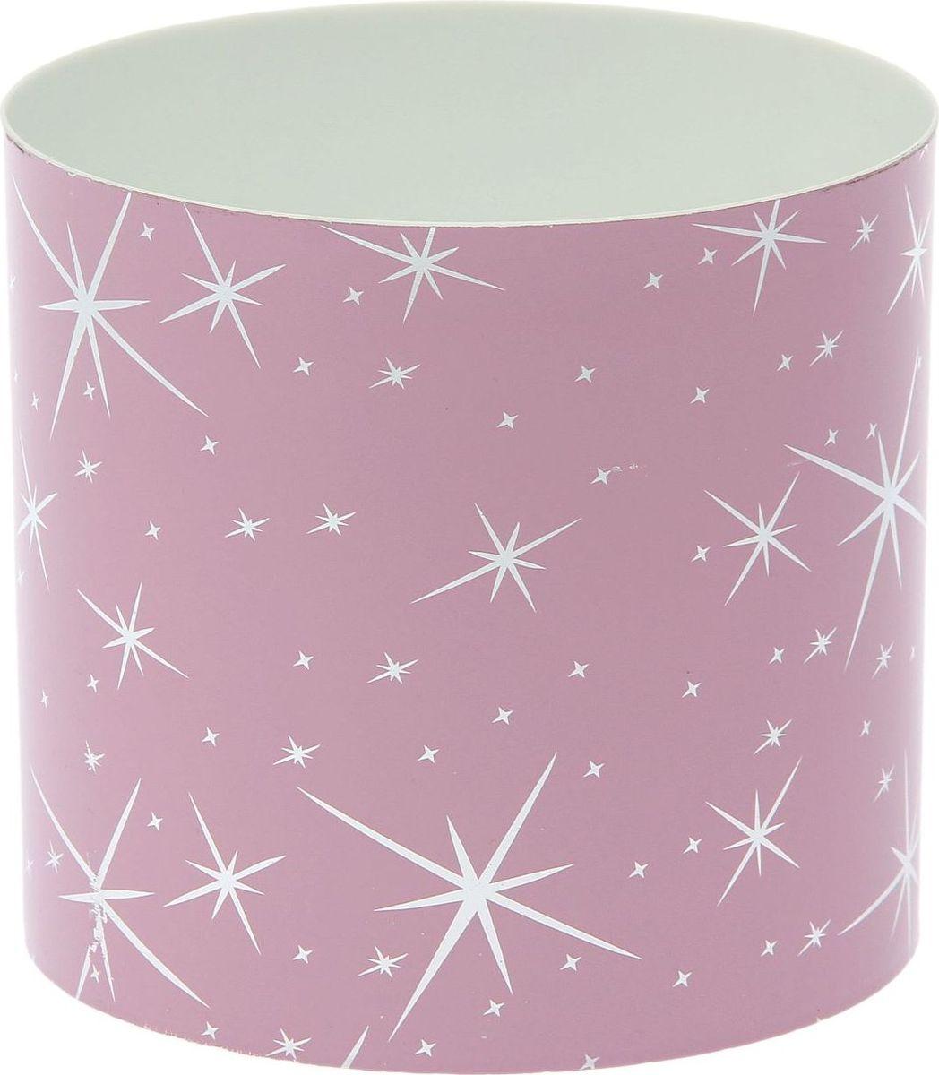 Горшок для цветов Simple Garden Звезды, со скрытым поддоном, цвет: розовый металлик, 2,8 л1915383Каждому хозяину периодически приходит мысль обновить свою квартиру, сделать ремонт, перестановку или кардинально поменять внешний вид каждой комнаты. Пластиковый горшок со скрытым поддоном Simple Garden Звезды - привлекательная деталь, которая поможет воплотить вашу интерьерную идею, создать неповторимую атмосферу в вашем доме. Окружите себя приятными мелочами, пусть они радуют глаз и дарят гармонию.