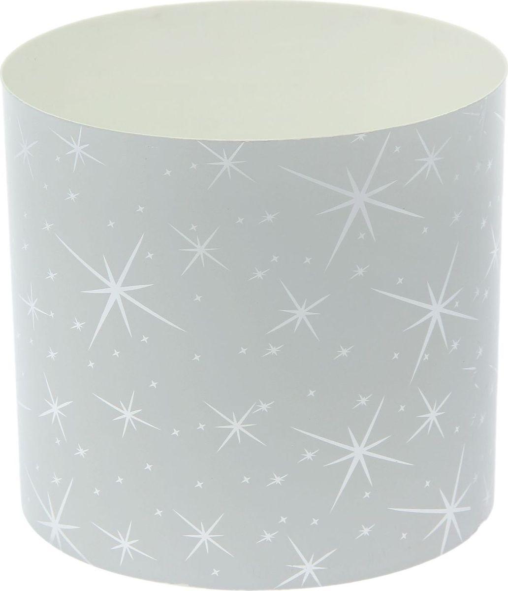 Горшок для цветов Simple Garden Звезды, со скрытым поддоном, цвет: белый металлик, 5,1 л моторное масло motul garden 4t 10w 30 2 л