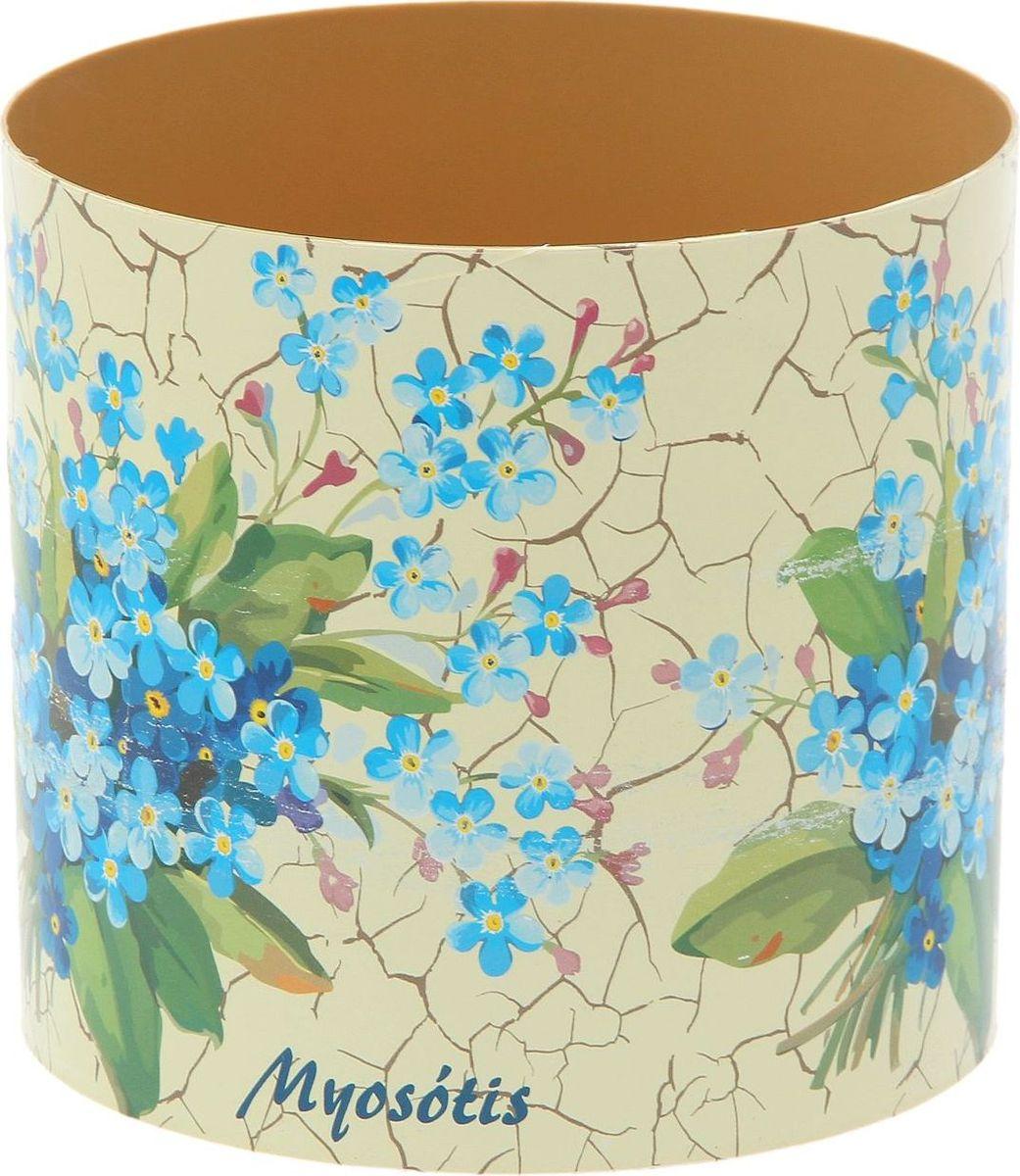 Горшок для цветов Simple Garden Прованс. Незабудки, со скрытым поддоном, 1,7 л1915435