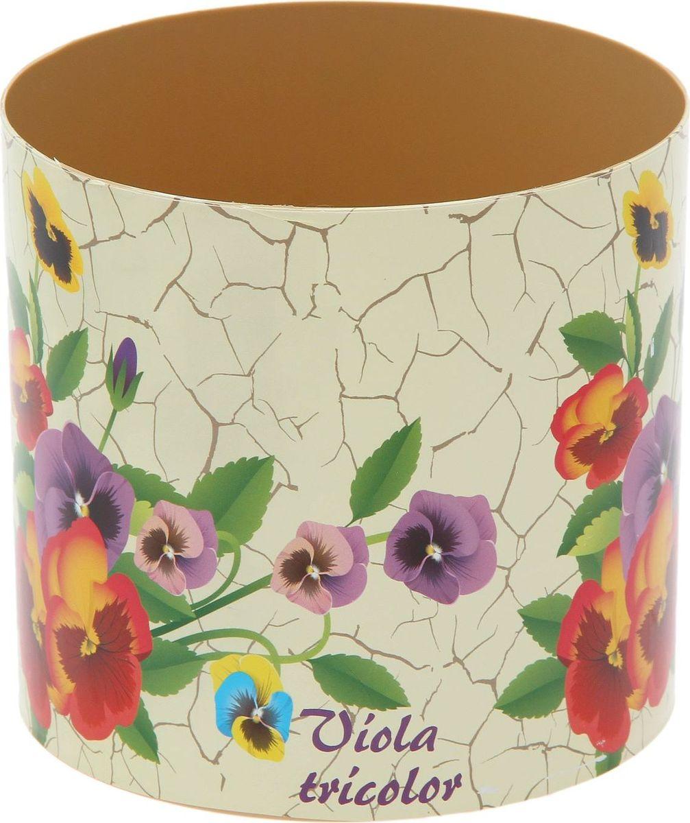 Горшок для цветов Simple Garden Прованс. Фиалки, со скрытым поддоном, 1,7 л1915439