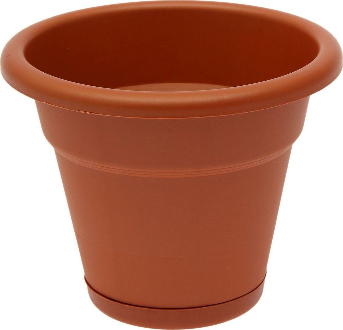 Горшок для цветов Simple Garden, с нижним поливом, цвет: терракотовый, 3,5 л1915477Любой, даже самый современный и продуманный интерьер будет незавершённым без растений. Они не только очищают воздух и насыщают его кислородом, но и украшают окружающее пространство. Такому полезному члену семьи просто необходим красивый и функциональный дом! Мы предлагаем #name#! Оптимальный выбор материала — пластмасса! Почему мы так считаем?Малый вес. С лёгкостью переносите горшки и кашпо с места на место, ставьте их на столики или полки, не беспокоясь о нагрузке. Простота ухода. Кашпо не нуждается в специальных условиях хранения. Его легко чистить — достаточно просто сполоснуть тёплой водой. Никаких потёртостей. Такие кашпо не царапают и не загрязняют поверхности, на которых стоят. Пластик дольше хранит влагу, а значит, растение реже нуждается в поливе. Пластмасса не пропускает воздух — корневой системе растения не грозят резкие перепады температур. Огромный выбор форм, декора и расцветок — вы без труда найдёте что-то, что идеально впишется в уже существующий интерьер. Соблюдая нехитрые правила ухода, вы можете заметно продлить срок службы горшков и кашпо из пластика:всегда учитывайте размер кроны и корневой системы (при разрастании большое растение способно повредить маленький горшок)берегите изделие от воздействия прямых солнечных лучей, чтобы горшки не выцветалидержите кашпо из пластика подальше от нагревающихся поверхностей. Создавайте прекрасные цветочные композиции, выращивайте рассаду или необычные растения.