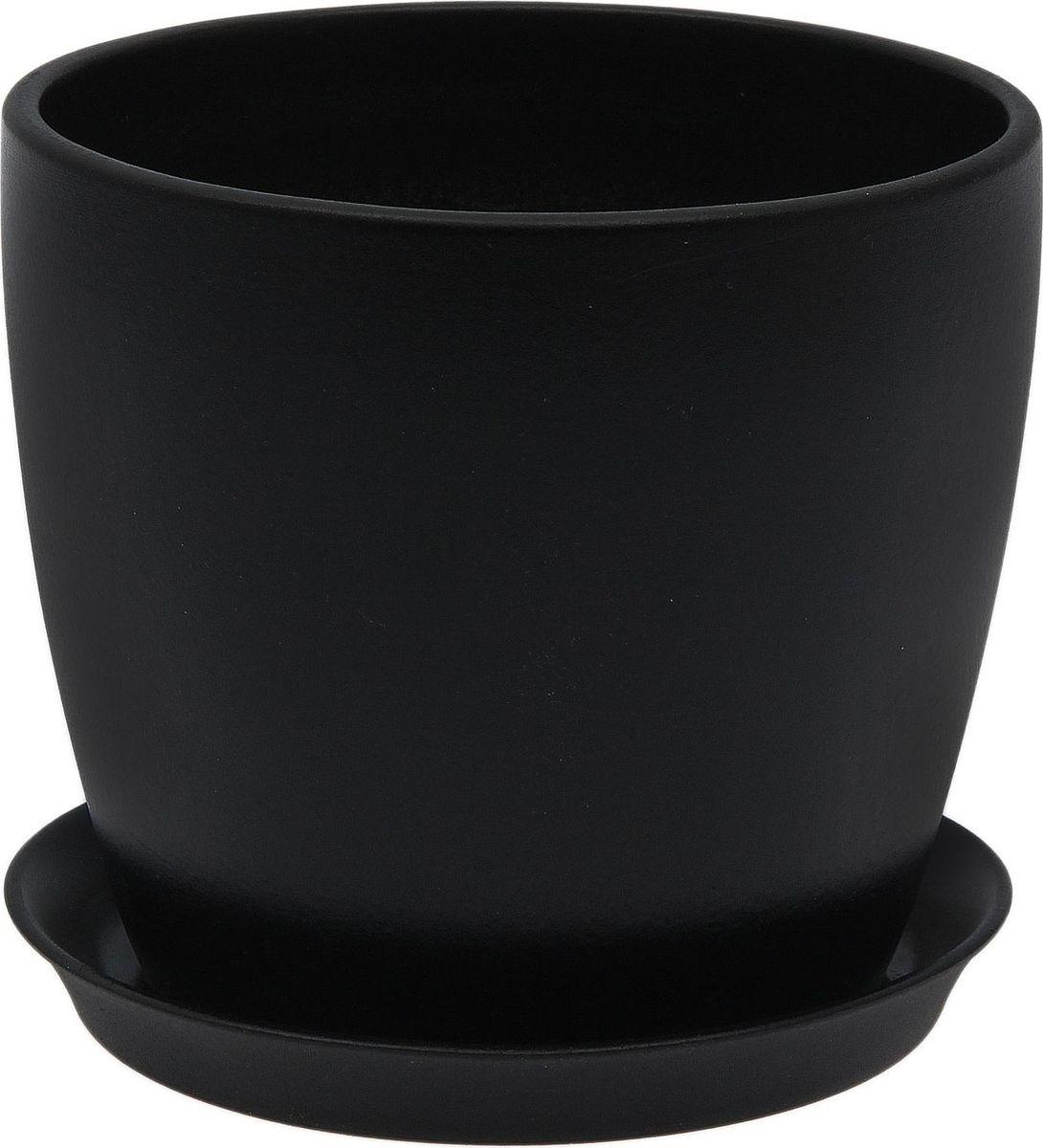 Кашпо Керамика ручной работы Осень. Лак, цвет: черный, 1 л1968856Комнатные растения - всеобщие любимцы. Они радуют глаз, насыщают помещение кислородом и украшают пространство. Каждому из них необходим свой удобный и красивый дом. Кашпо из керамики прекрасно подходят для высадки растений: за счет пластичности глины и разных способов обработки существует великое множество форм и дизайнов. Пористый материал позволяет испаряться лишней влаге воздух, необходимый для дыхания корней.