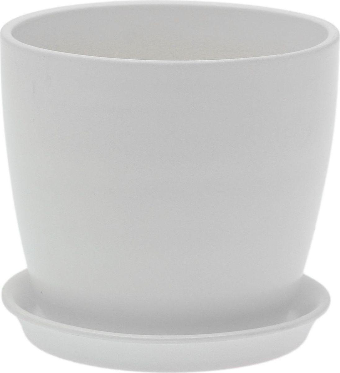 Кашпо Керамика ручной работы Осень. Лак, цвет: белый, 1 л1968860