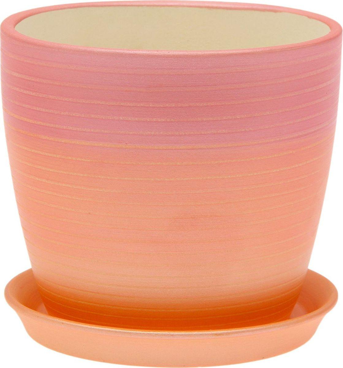 Кашпо Керамика ручной работы Осень. Радуга, цвет: красный, 1 л1968864Комнатные растения - всеобщие любимцы. Они радуют глаз, насыщают помещение кислородом и украшают пространство. Каждому из них необходим свой удобный и красивый дом.Кашпо из керамики прекрасно подходит для высадки растений: за счёт пластичности глины и разных способов обработки существует великое множество форм и дизайнов, пористый материал позволяет испаряться лишней влаге, воздух, необходимый для дыхания корней, проникает сквозь керамические стенки! Изделие освежит интерьер и подчеркнёт его стиль.