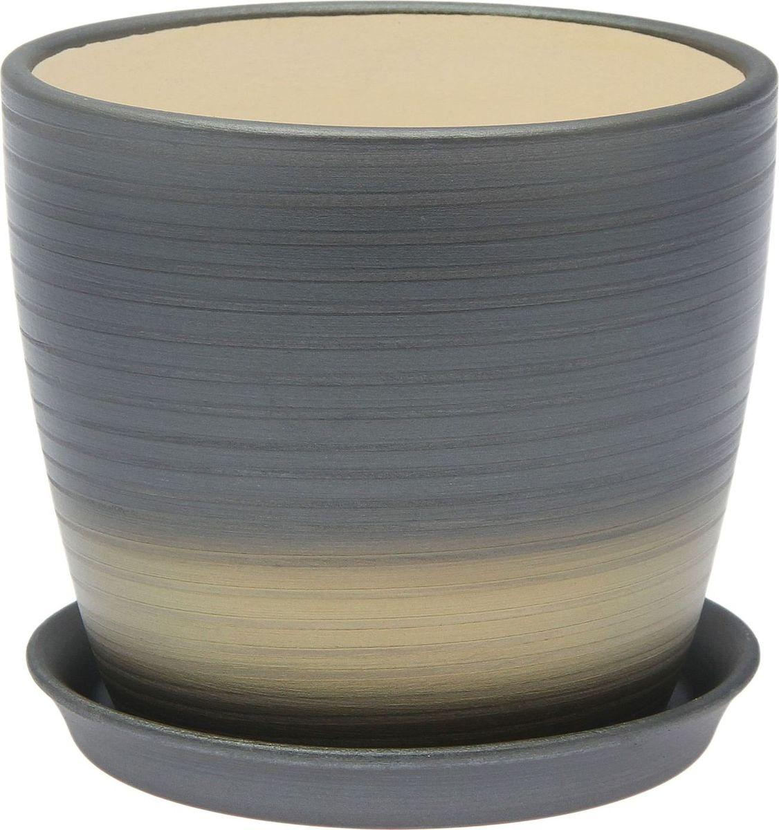 Кашпо Керамика ручной работы Осень. Радуга, цвет: серебристый, 1 л1968876