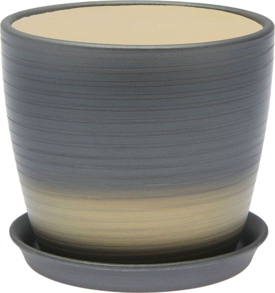 Кашпо Керамика ручной работы Осень. Радуга, цвет: серебристый, 0,25 л1968877