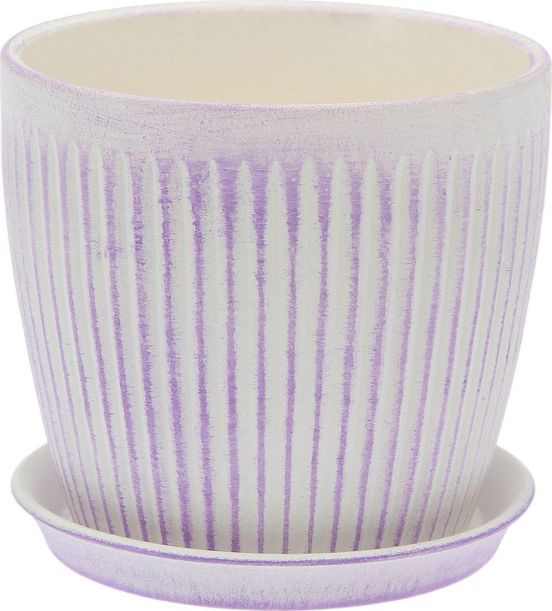 Кашпо Керамика ручной работы Осень. Вертикаль, цвет: лавандовый, 2 л1968887Комнатные растения — всеобщие любимцы. Они радуют глаз, насыщают помещение кислородом и украшают пространство. Каждому из них необходим свой удобный и красивый дом. Кашпо из керамики прекрасно подходят для высадки растений: за счет пластичности глины и разных способов обработки существует великое множество форм и дизайнов пористый материал позволяет испаряться лишней влаге воздух, необходимый для дыхания корней, проникает сквозь керамические стенки! позаботится о зеленом питомце, освежит интерьер и подчеркнет его стиль.