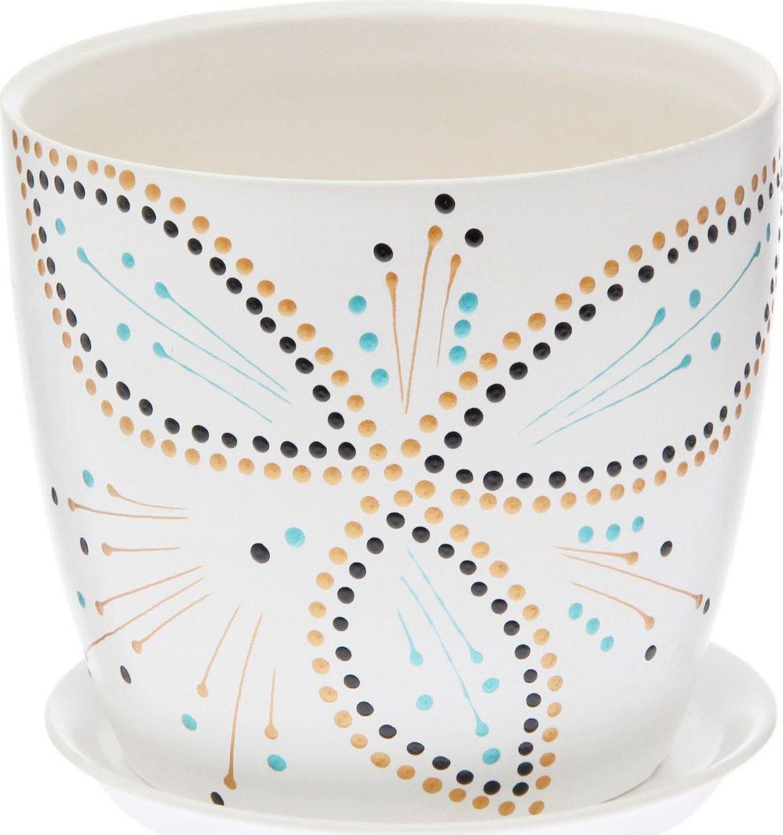 Кашпо Керамика ручной работы Осень. Дорисовка, цвет: белый, 3 л1968902Комнатные растения — всеобщие любимцы. Они радуют глаз, насыщают помещение кислородом и украшают пространство. Каждому из них необходим свой удобный и красивый дом. Кашпо из керамики прекрасно подходят для высадки растений: за счет пластичности глины и разных способов обработки существует великое множество форм и дизайнов пористый материал позволяет испаряться лишней влаге воздух, необходимый для дыхания корней, проникает сквозь керамические стенки! позаботится о зеленом питомце, освежит интерьер и подчеркнет его стиль.