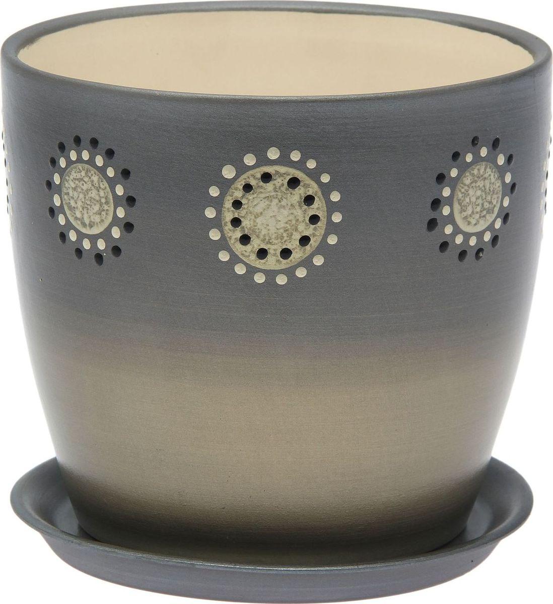 Кашпо Керамика ручной работы Осень. Дорисовка, цвет: серебристый, 3 л1968906Комнатные растения — всеобщие любимцы. Они радуют глаз, насыщают помещение кислородом и украшают пространство. Каждому из них необходим свой удобный и красивый дом. Кашпо из керамики прекрасно подходят для высадки растений: за счёт пластичности глины и разных способов обработки существует великое множество форм и дизайновпористый материал позволяет испаряться лишней влагевоздух, необходимый для дыхания корней, проникает сквозь керамические стенки! #name# позаботится о зелёном питомце, освежит интерьер и подчеркнёт его стиль.