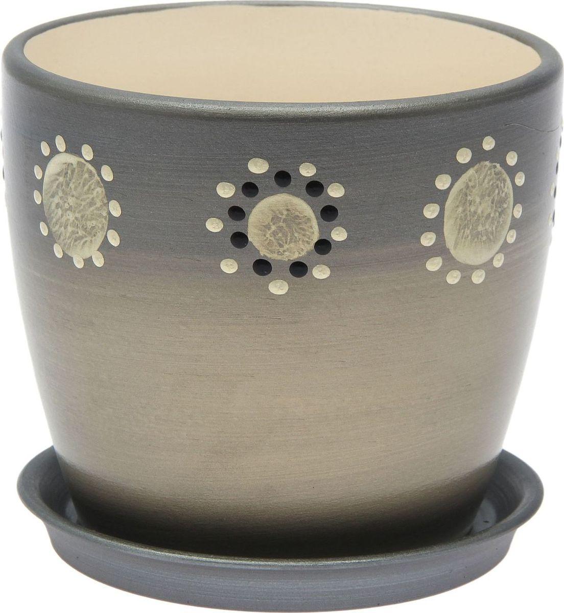 Кашпо Керамика ручной работы Осень. Дорисовка, цвет: серебристый, 1 л1968908Комнатные растения — всеобщие любимцы. Они радуют глаз, насыщают помещение кислородом и украшают пространство. Каждому из них необходим свой удобный и красивый дом. Кашпо из керамики прекрасно подходят для высадки растений: за счёт пластичности глины и разных способов обработки существует великое множество форм и дизайновпористый материал позволяет испаряться лишней влагевоздух, необходимый для дыхания корней, проникает сквозь керамические стенки! #name# позаботится о зелёном питомце, освежит интерьер и подчеркнёт его стиль.