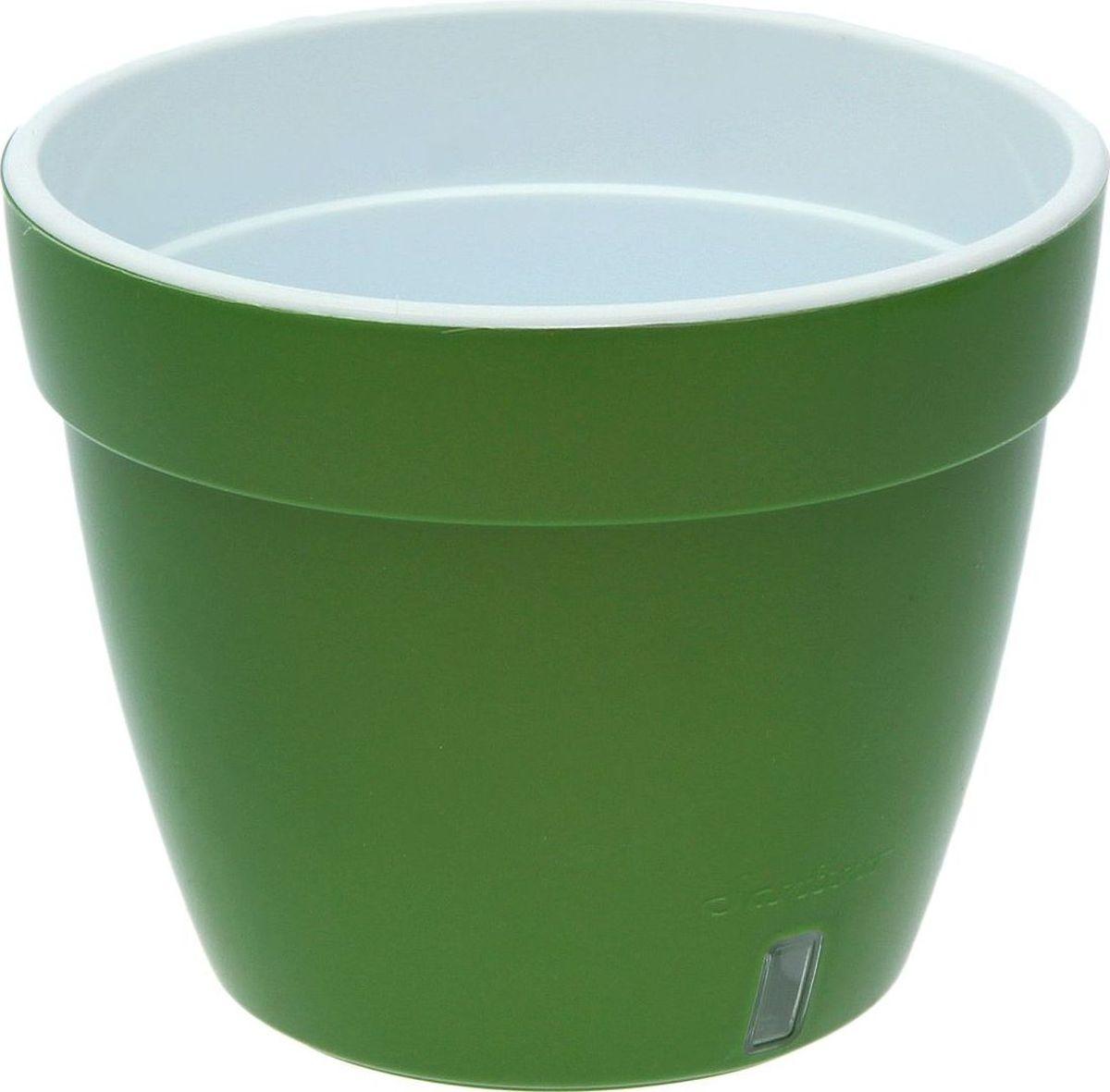 Горшок для цветов Santino Асти, цвет: зеленый, 2,5 л2034771Горшок Santino Асти, выполненный из высококачественного пластика, предназначен для выращивания комнатных цветов, растений и трав. Специальная конструкция обеспечивает вентиляцию в корневой системе растения, а дренажные отверстия позволяют выходить лишней влаге из почвы. Изделие состоит из цветного кашпо и внутреннего горшка. Растение высаживается во внутренний горшок и вставляется в кашпо.Такой горшок порадует вас современным дизайном и функциональностью, а также оригинально украсит интерьер любого помещения.
