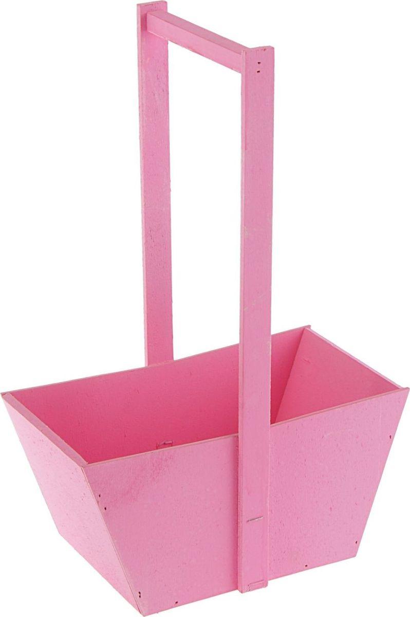 Кашпо-заготовка ТД ДМ Ящик, цвет: розовый, 36 х 24 х 13,5 см2104029