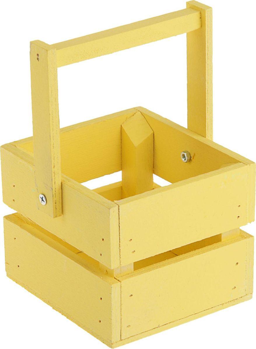 Кашпо ТД ДМ Ящик, со складной ручкой, цвет: желтый, 11 х 12 х 9 см2219776Кашпо ТД ДМ Ящик со складной ручкой сочетается как с классическим, так и с современным дизайном интерьера. Оно изготовлено из дерева и предназначено для выращивания растений, цветов и трав в домашних условиях.Кашпо порадует вас функциональностью, а благодаря лаконичному дизайну впишется в любой интерьер помещения.