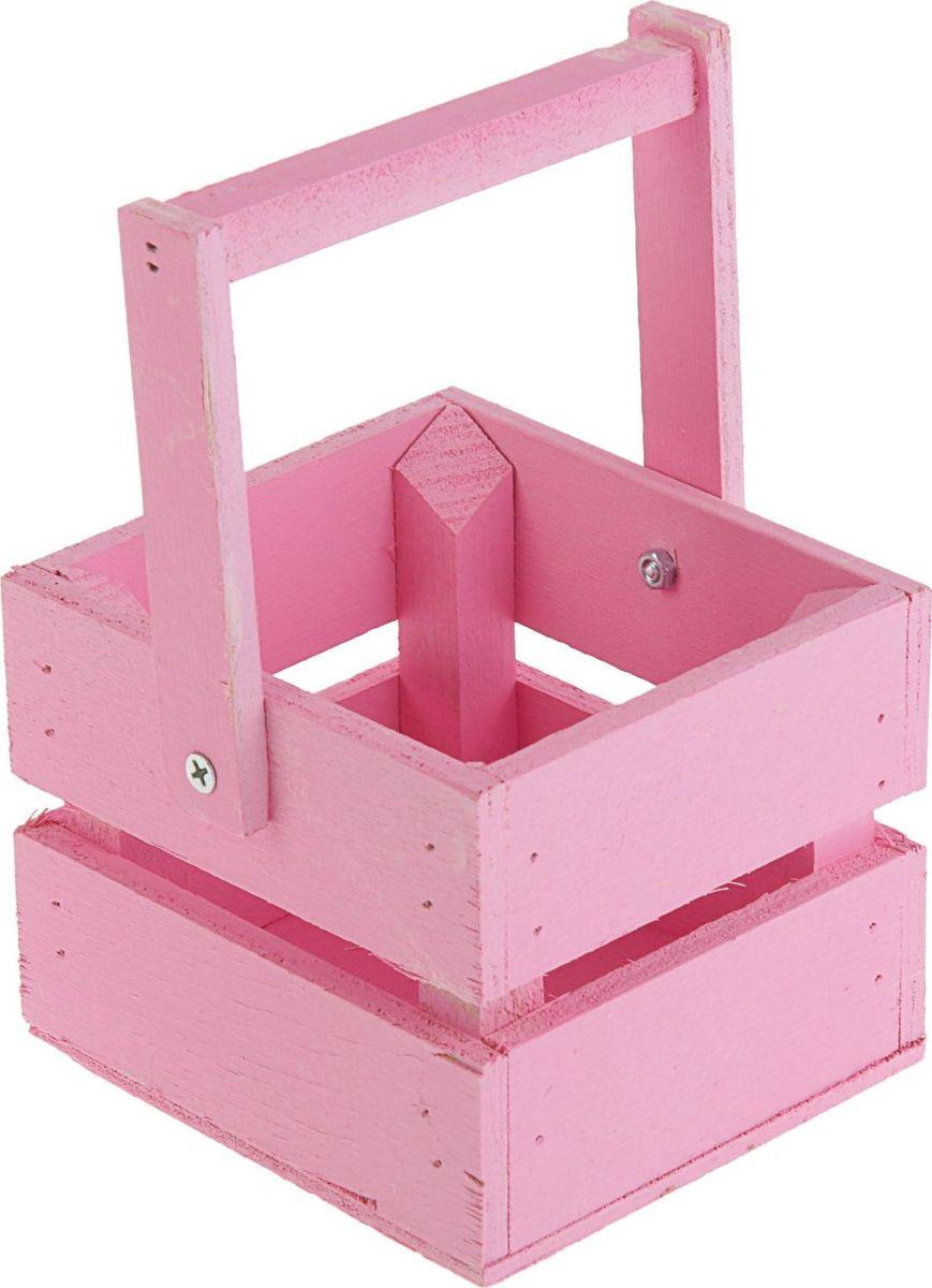 Кашпо ТД ДМ Ящик, со складной ручкой, цвет: розовый, 11 х 12 х 9 см2219778Кашпо ТД ДМ Ящик со складной ручкой сочетается как с классическим, так и с современным дизайном интерьера. Оно изготовлено из дерева и предназначено для выращивания растений, цветов и трав в домашних условиях.Кашпо порадует вас функциональностью, а благодаря лаконичному дизайну впишется в любой интерьер помещения.
