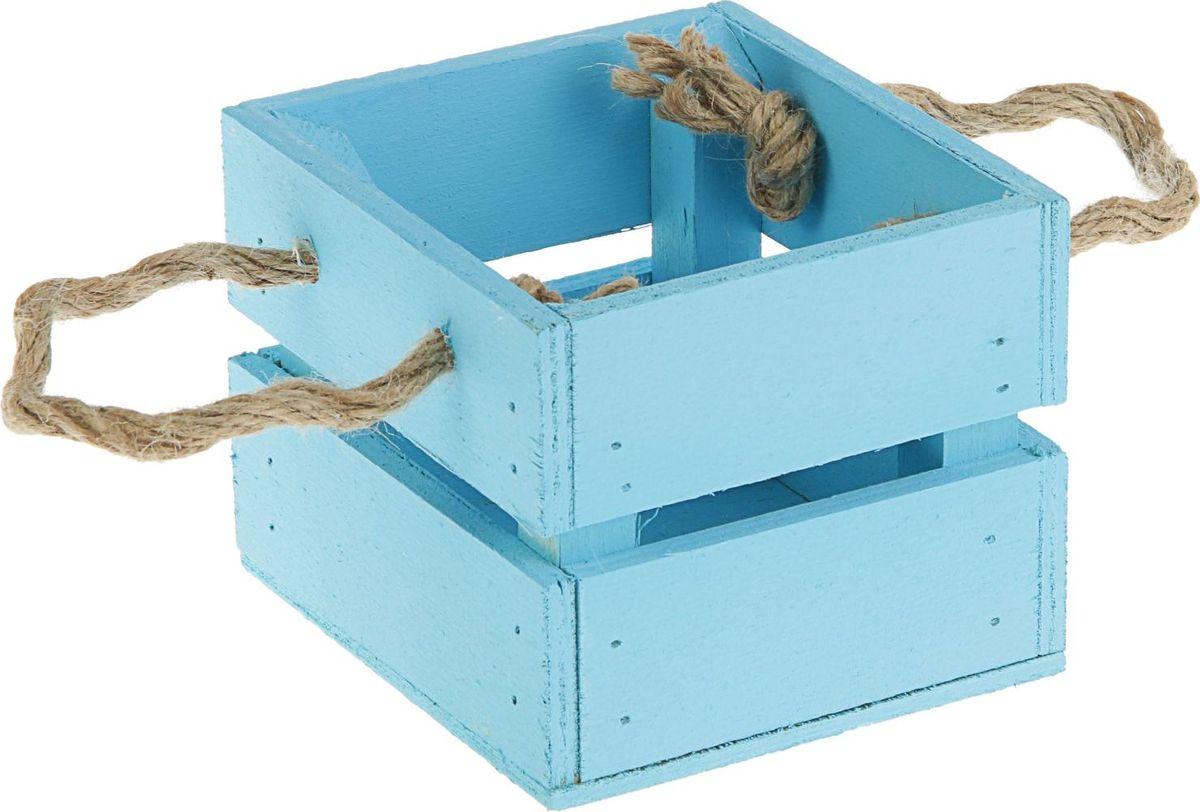 Кашпо ТД ДМ Ящик, цвет: голубой, 11 х 12 х 9 см2219783Кашпо ТД ДМ Ящик имеет уникальную форму, сочетающуюся как с классическим, так и с современным дизайном интерьера. Оно изготовлено из дерева и предназначено для выращивания растений, цветов и трав в домашних условиях.Кашпо порадует вас функциональностью, а благодаря лаконичному дизайну впишется в любой интерьер помещения.Размеры кашпо: 11 х 12 х 9 см.