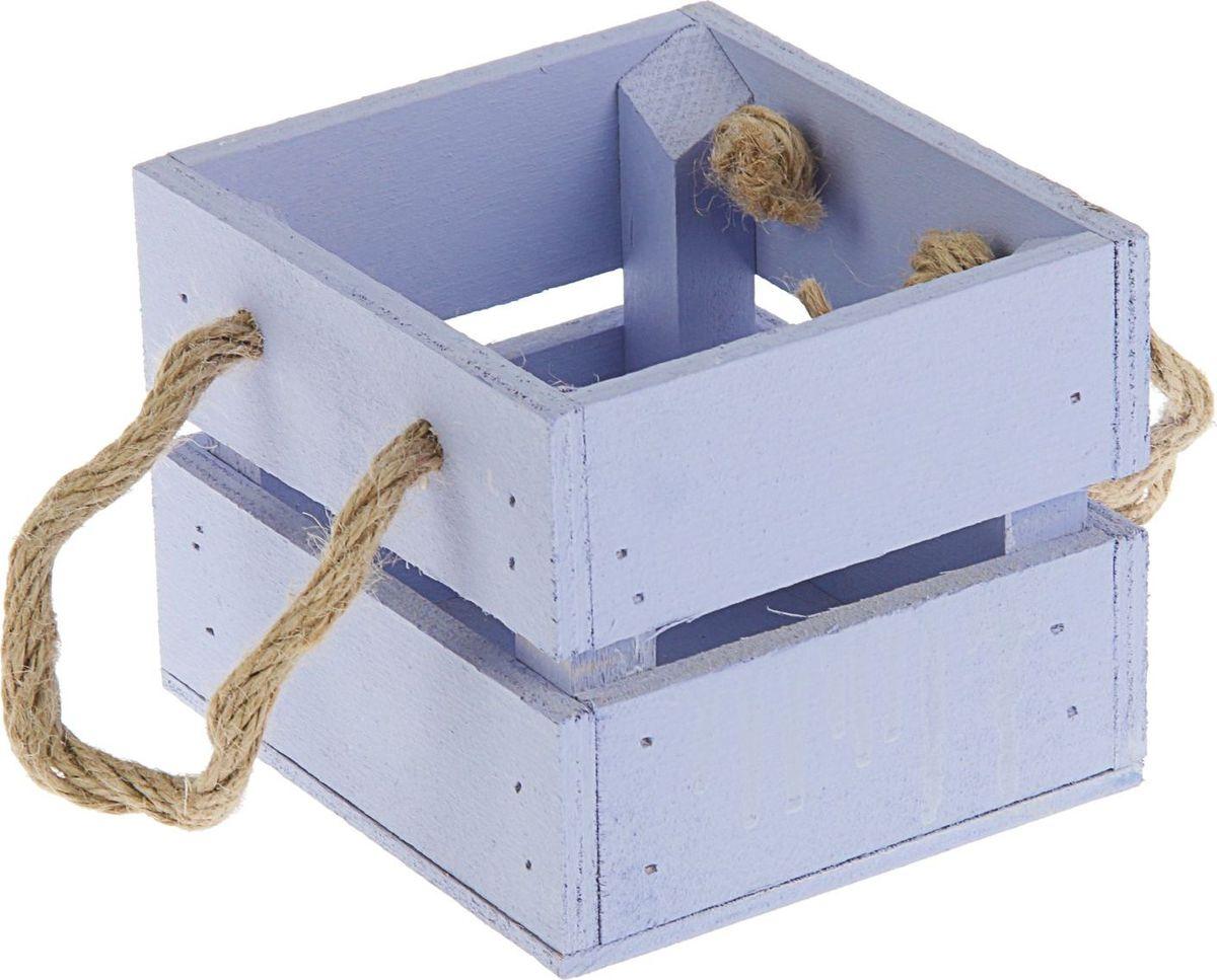 Кашпо ТД ДМ Ящик, цвет: фиолетовый, 11 х 12 х 9 см2219787Кашпо ТД ДМ Ящик — сувенир в полном смысле этого слова. И главная его задача — хранить воспоминание о месте, где вы побывали, или о том человеке, который подарил данный предмет. Преподнесите эту вещь своему другу, и она станет достойным украшением его дома.