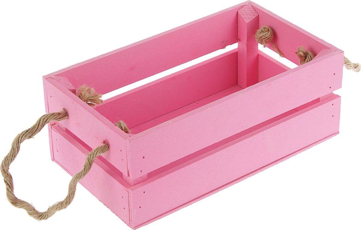 Кашпо ТД ДМ Ящик, цвет: розовый, 24,5 х 13,5 х 9 см2219803#name# — сувенир в полном смысле этого слова. И главная его задача — хранить воспоминание о месте, где вы побывали, или о том человеке, который подарил данный предмет. Преподнесите эту вещь своему другу, и она станет достойным украшением его дома.