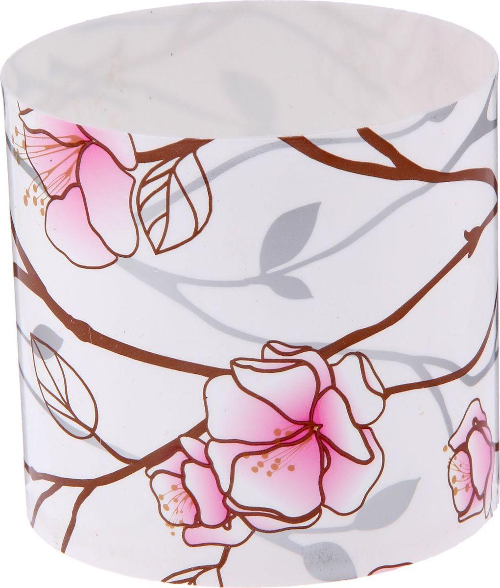 Горшок для цветов Simple Garden Весенние побеги, со скрытым поддоном, цвет: розовый, 1 л2265043