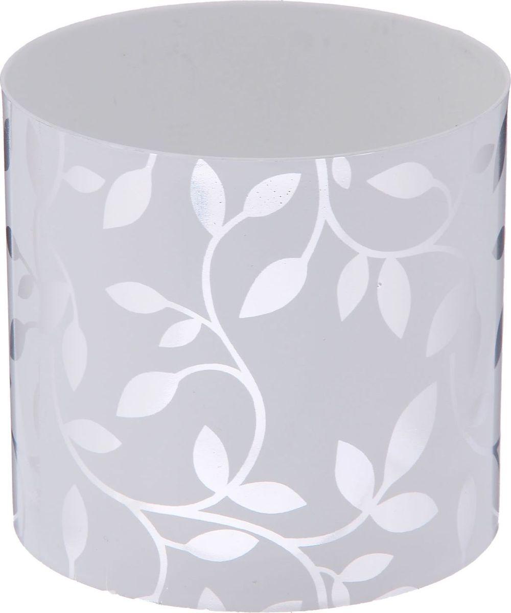 Горшок для цветов Simple Garden Листочки, со скрытым поддоном, цвет: металлик, 1 л2265047Каждому хозяину периодически приходит мысль обновить свою квартиру, сделать ремонт, перестановку или кардинально поменять внешний вид каждой комнаты. Пластиковый горшок со скрытым поддоном Simple Garden Листочки - привлекательная деталь, которая поможет воплотить вашу интерьерную идею, создать неповторимую атмосферу в вашем доме. Окружите себя приятными мелочами, пусть они радуют глаз и дарят гармонию.