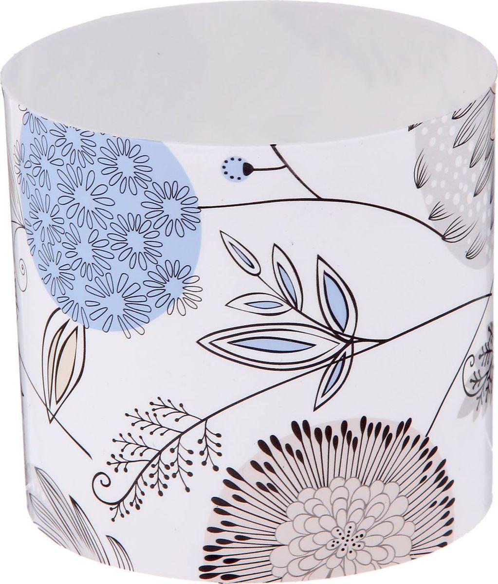 Горшок для цветов Simple Garden Цветы. Войнича, со скрытым поддоном, цвет: голубой, 1 л2265060