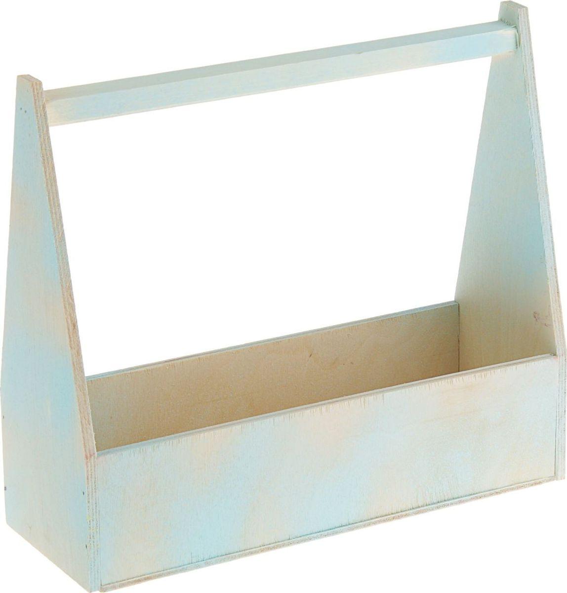 Кашпо ТД ДМ Ящик, состаренное, цвет: синий, 12 х 27 х 30,5 см2269512#name# — сувенир в полном смысле этого слова. И главная его задача — хранить воспоминание о месте, где вы побывали, или о том человеке, который подарил данный предмет. Преподнесите эту вещь своему другу, и она станет достойным украшением его дома.