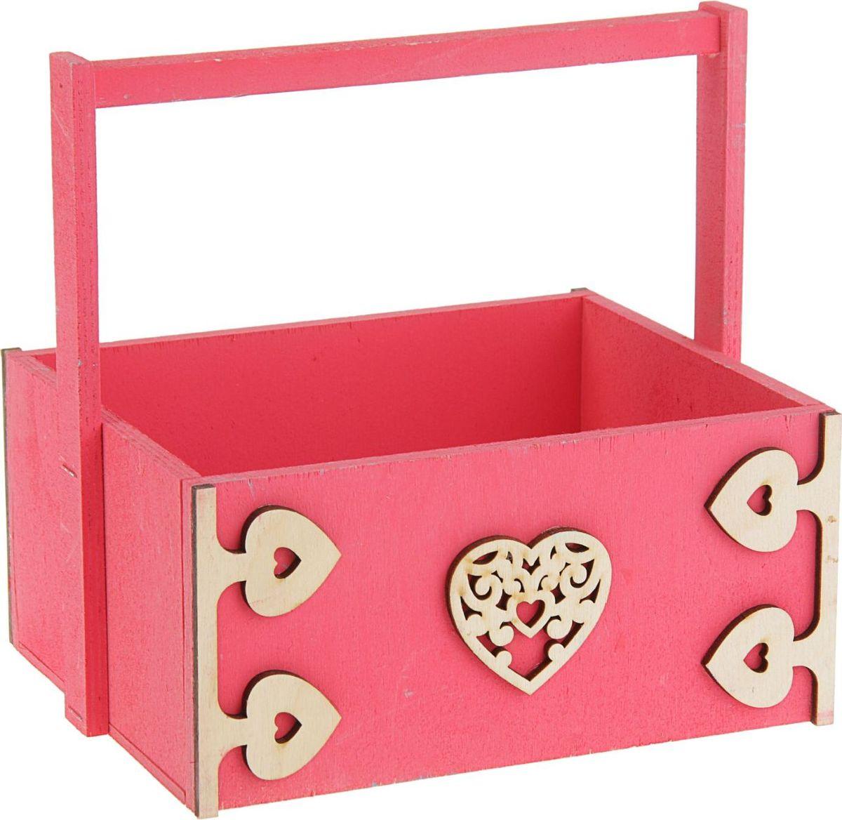 Кашпо ТД ДМ Ящик. Любовь, флористическое, 20 х 16 х 9,5 см кашпо тд дм ящик любовь флористическое 20 х 16 х 9 5 см