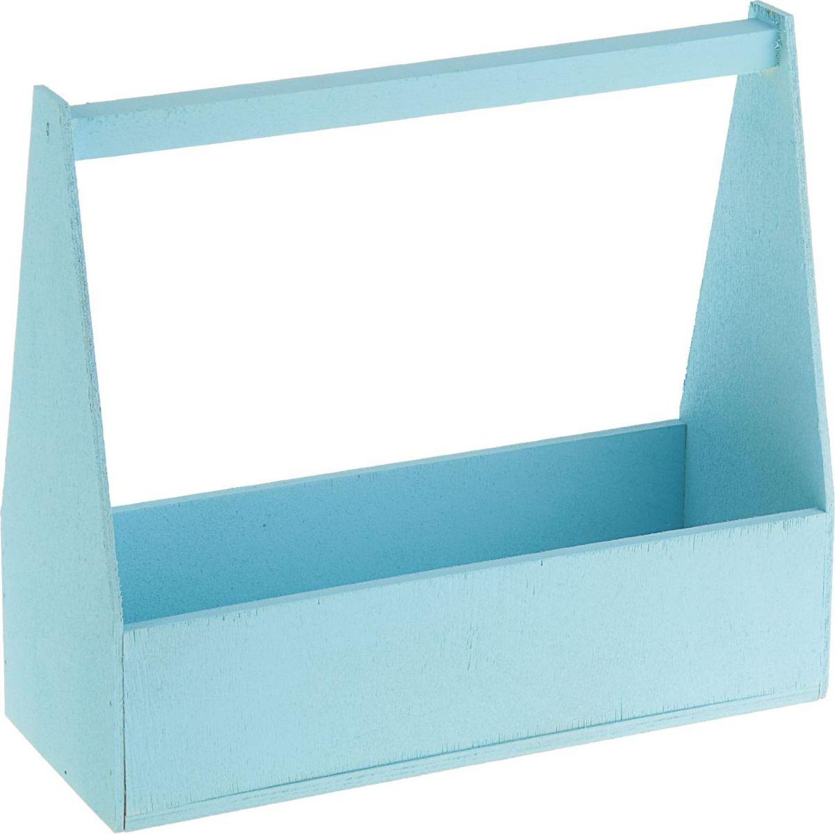 Кашпо ТД ДМ Ящик, флористическое, цвет: голубой, 27 х 11 х 9 см2269522#name# — сувенир в полном смысле этого слова. И главная его задача — хранить воспоминание о месте, где вы побывали, или о том человеке, который подарил данный предмет. Преподнесите эту вещь своему другу, и она станет достойным украшением его дома.