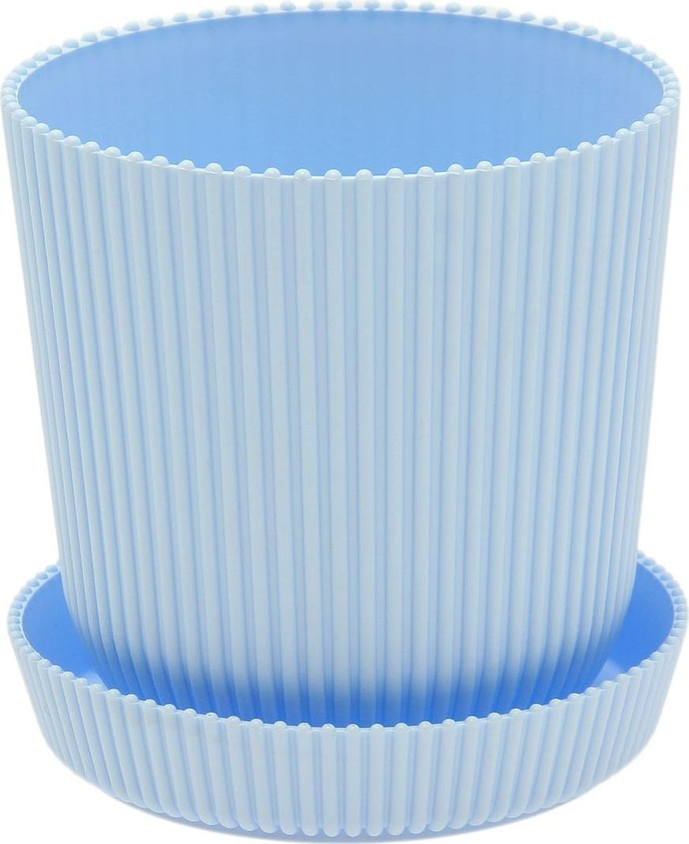 Горшок для цветов ТЕК.А.ТЕК Le Gaufre, с поддоном, цвет: голубой, 1 л2290334Любой, даже самый современный и продуманный интерьер будет незавершённым без растений. Они не только очищают воздух и насыщают его кислородом, но и украшают окружающее пространство. Такому полезному члену семьи просто необходим красивый и функциональный дом! Мы предлагаем #name#! Оптимальный выбор материала — пластмасса! Почему мы так считаем?Малый вес. С лёгкостью переносите горшки и кашпо с места на место, ставьте их на столики или полки, не беспокоясь о нагрузке. Простота ухода. Кашпо не нуждается в специальных условиях хранения. Его легко чистить — достаточно просто сполоснуть тёплой водой. Никаких потёртостей. Такие кашпо не царапают и не загрязняют поверхности, на которых стоят. Пластик дольше хранит влагу, а значит, растение реже нуждается в поливе. Пластмасса не пропускает воздух — корневой системе растения не грозят резкие перепады температур. Огромный выбор форм, декора и расцветок — вы без труда найдёте что-то, что идеально впишется в уже существующий интерьер. Соблюдая нехитрые правила ухода, вы можете заметно продлить срок службы горшков и кашпо из пластика:всегда учитывайте размер кроны и корневой системы (при разрастании большое растение способно повредить маленький горшок)берегите изделие от воздействия прямых солнечных лучей, чтобы горшки не выцветалидержите кашпо из пластика подальше от нагревающихся поверхностей. Создавайте прекрасные цветочные композиции, выращивайте рассаду или необычные растения.